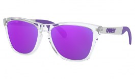 Oakley Frogskins Mix Sunglasses - Polished Clear / Violet Iridium Polarised