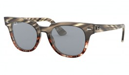 Ray-Ban RB2168 Meteor Sunglasses - Striped Grey Havana Fade / Washed Blue