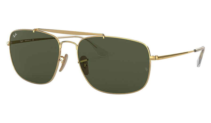 Ray-Ban RB3560 Colonel Sunglasses - Gold / Green