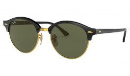 Ray-Ban RB4246 Clubround Sunglasses - Black / Green Classic