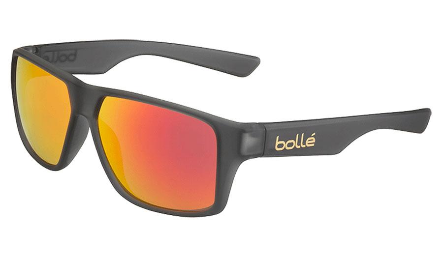 Bolle Brecken Sunglasses - Matte Grey Crystal / TNS Fire