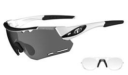 Tifosi Alliant Prescription Sunglasses - Clip-On Insert - White & Black / Smoke + AC Red + Clear