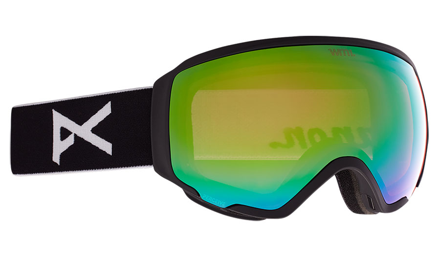 Anon WM1 MFI Ski Goggles - Black / Perceive Variable Green + Perceive Cloudy Pink