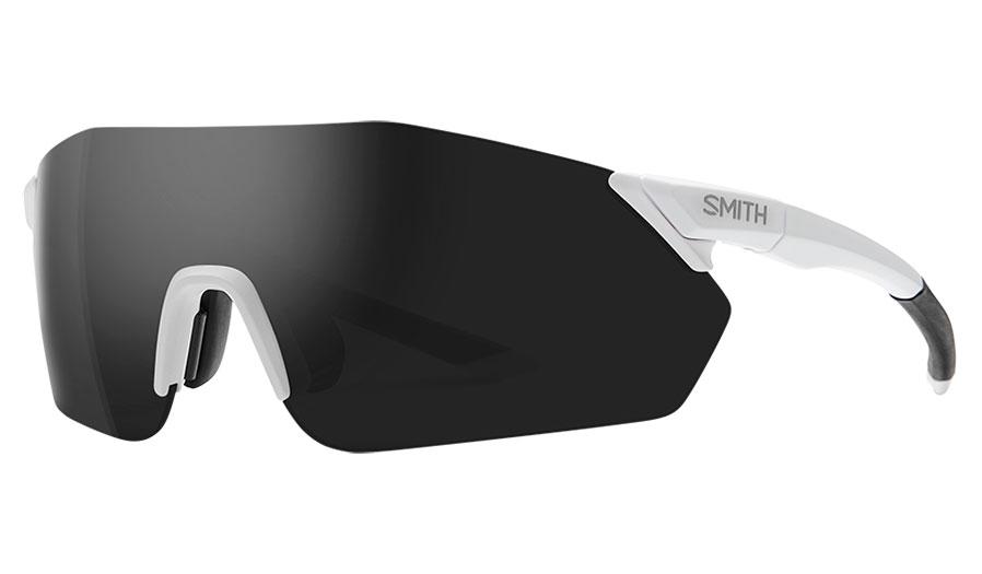 Smith Reverb Sunglasses - Matte White / ChromaPop Black + ChromaPop Contrast Rose