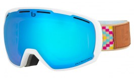 Bolle Laika Ski Goggles - Matte White Ethnic / Phantom Vermillon Blue Photochromic