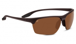 Serengeti Linosa Sunglasses - Sanded Dark Brown / Drivers Polarised Photochromic