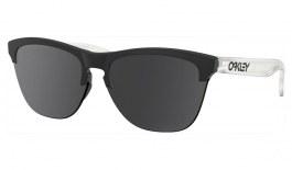 Oakley Frogskins Lite Prescription Sunglasses - Matte Black & Matte Clear Temples