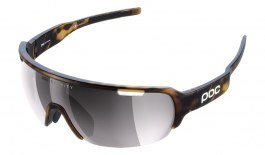 POC DO Half Blade Sunglasses - Tortoise Brown / Clarity Road Violet with Silver Mirror