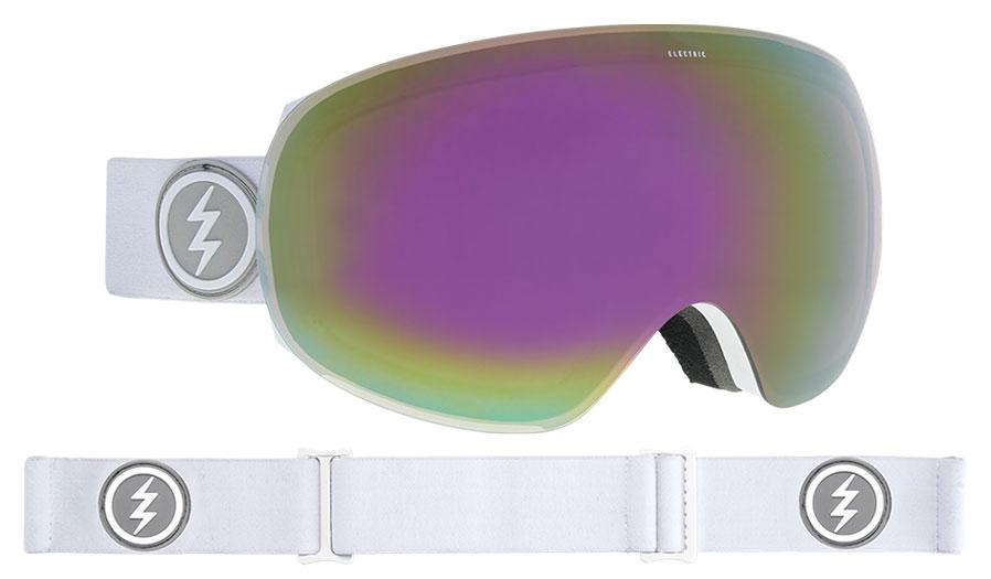 6a0e9fabf67b Electric EG3 Ski Goggles. Frame  Matte White. Lens  Brose Pink Chrome