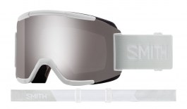 Smith Squad Ski Goggles - White Vapor / ChromaPop Sun Platinum Mirror + Yellow