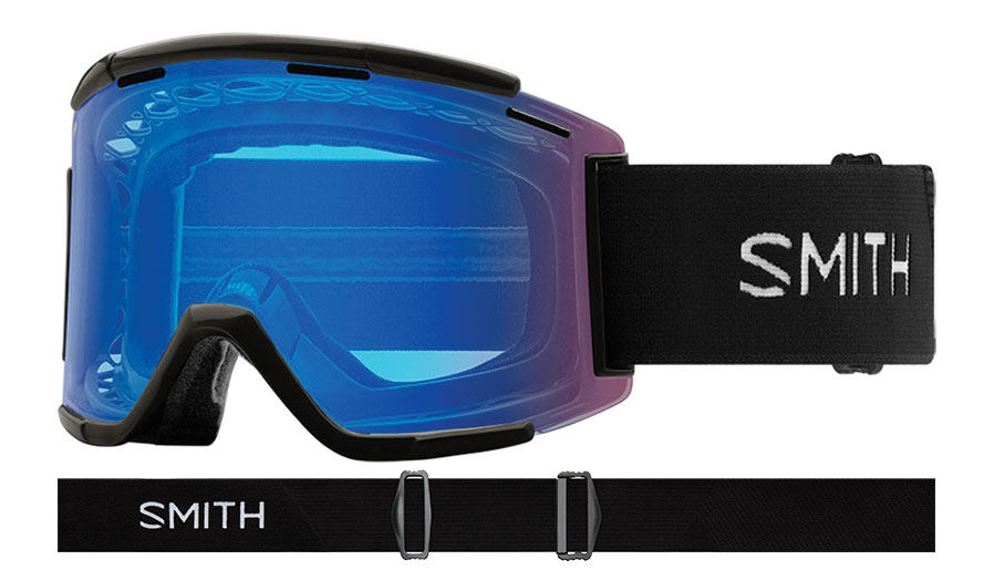 Smith Squad XL MTB Prescription Goggles - Black / ChromaPop Contrast Rose Flash + Clear