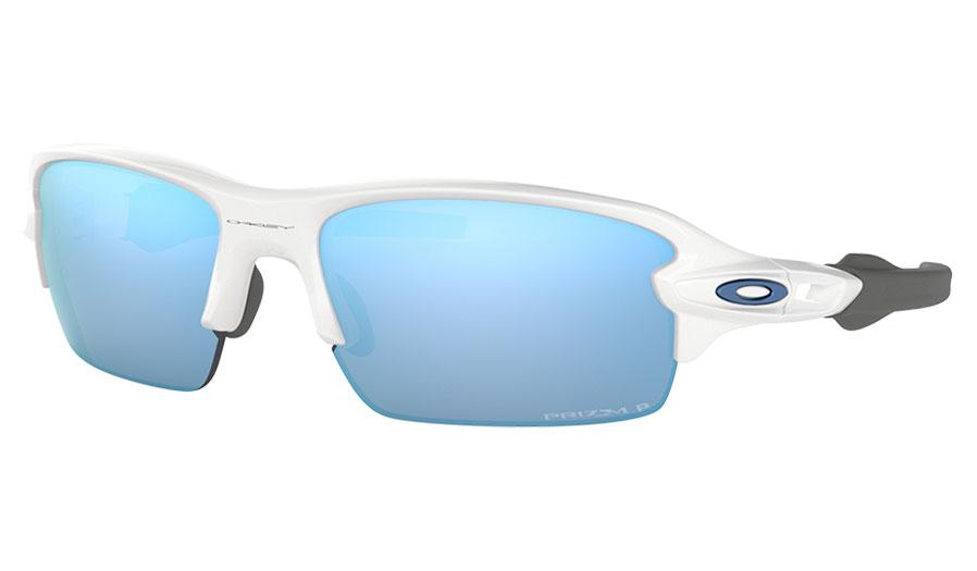 5e38e8c74b2 Oakley Flak XS Sunglasses - Polished White   Prizm Deep Water ...