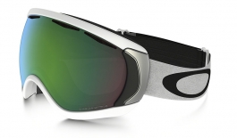 Oakley Canopy Ski Goggles - Matte White / Prizm Jade Iridium