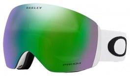 Oakley Flight Deck XL Prescription Ski Goggles - Matte White / Prizm Jade Iridium