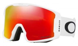 Oakley Line Miner Prescription Ski Goggles - Matte White / Prizm Torch Iridium