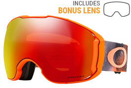 Oakley Airbrake XL Ski Goggles - Mystic Flow Neon Orange / Prizm Torch Iridium + Prizm Black Iridium