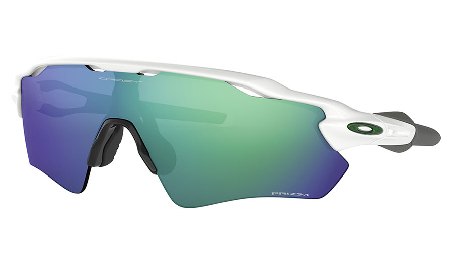 Oakley Radar EV Path Sunglasses - Polished White / Prizm Jade