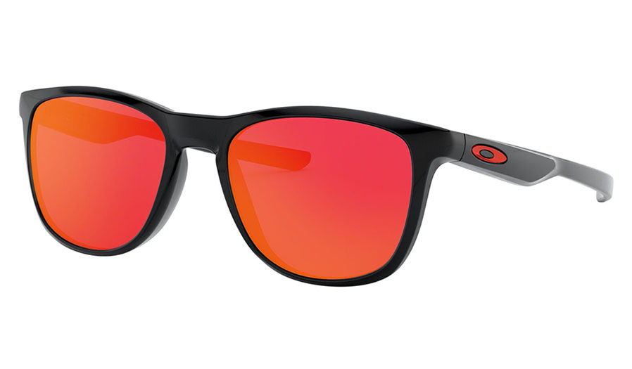 Oakley Trillbe X Sunglasses - Polished Black / Ruby Iridium