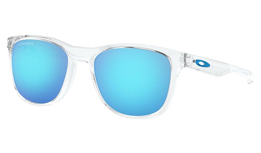 Oakley Trillbe X Sunglasses - Polished Clear / Prizm Sapphire