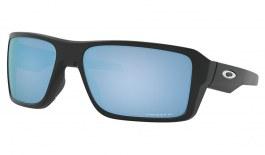 Oakley Double Edge Sunglasses - Matte Black / Prizm Deep Water Polarised
