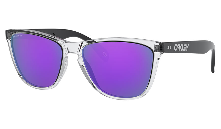 Oakley Frogskins 35th Anniversary Sunglasses - Polished Clear / Prizm Violet
