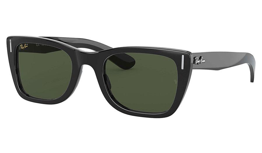 Ray-Ban RB2248 Caribbean Sunglasses - Black / Green