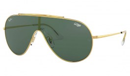Ray-Ban RB3597 Wings Sunglasses - Gold / Green