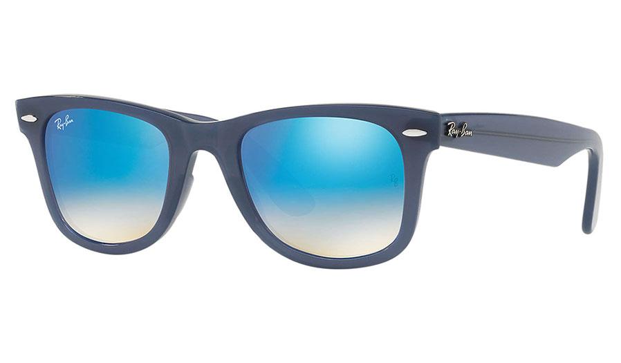 Ray-Ban RB4340 Wayfarer Ease Sunglasses - Blue / Blue Gradient Flash