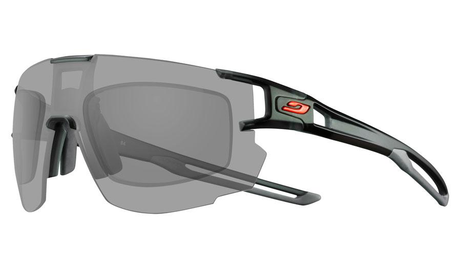 Julbo Aerospeed Prescription Sunglasses - Directly Glazed - Translucent Black & Grey