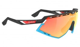 Rudy Project Defender Sunglasses - Matte Black & Blue (Bahrain McLaren Edition) / Multilaser Orange