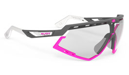 Rudy Project Defender Prescription Sunglasses - Clip-On Insert - Matte Pyombo & Fuchsia / ImpactX 2 Photochromic Black