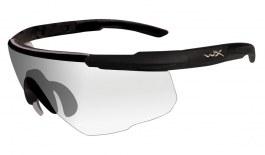 Wiley X Saber Advanced Prescription Sunglasses - Clip-On Insert - Matte Black / Clear