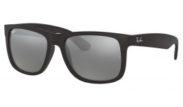Ray-Ban RB4165 Justin Sunglasses - Black / Grey Mirror