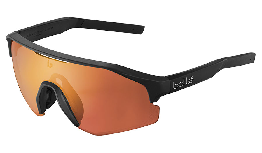 Bolle Lightshifter Prescription Sunglasses - Clip-On Insert - Matte Black / Phantom Brown Red Photochromic
