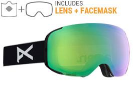 Anon M2 MFI Ski Goggles - Black / Sonar Green + Sonar Infrared