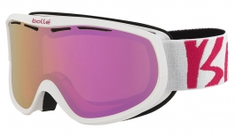 Bolle Sierra Ski Goggles - White & Pink / Rose Gold