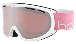 Bolle Sierra Prescription Ski Goggles - Shiny White & Pink / Vermillon Gun