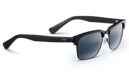 Maui Jim Kawika Sunglasses - Black Gloss with Antique Pewter / Neutral Grey Polarised