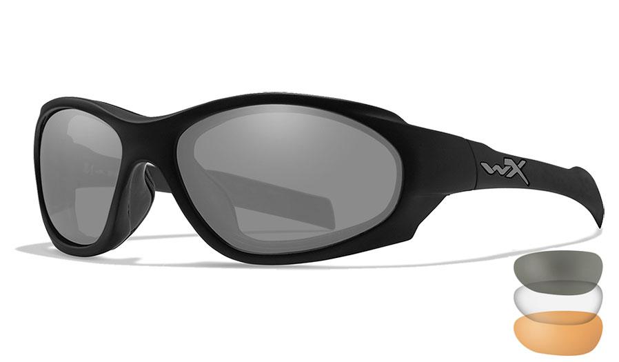Wiley X XL-1 Advanced COMM Sunglasses - Matte Black / Smoke Grey + Clear + Light Rust