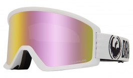 Dragon DX3 OTG Ski Goggles - White / Lumalens Pink Ion + Lumalens Amber