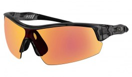 Dirty Dog Sport Edge Sunglasses - Crystal Black / Grey w/Red Fusion Mirror