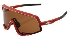 100% Glendale Sunglasses - Soft Tact Bordeaux / Bronze + Clear