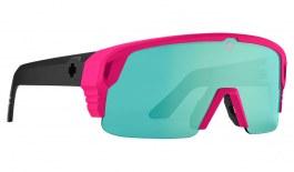 SPY Monolith 50/50 Sunglasses - Matte Neon Pink / HD+ Bronze with Light Green Spectra Mirror
