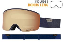 Giro Axis Prescription Ski Goggles - Midnight Peak / Vivid Copper + Vivid Infrared