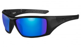 Wiley X Nash Sunglasses - Matte Black / Green Blue Mirror Polarised