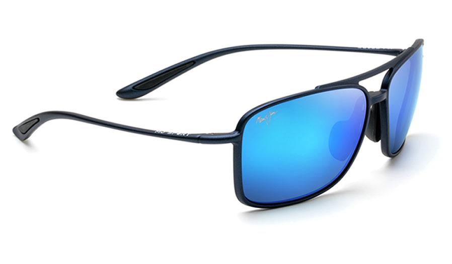 Maui Jim Kaupo Gap Sunglasses - Matte Blue / Blue Hawaii Polarised