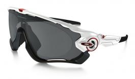 9775a3b84ff8 Oakley Jawbreaker Prescription Sunglasses - Polished White (Red Icon) -  RxSport