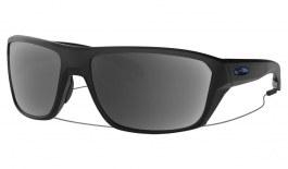 Oakley Split Shot Prescription Sunglasses - Matte Black (Blue Icon)