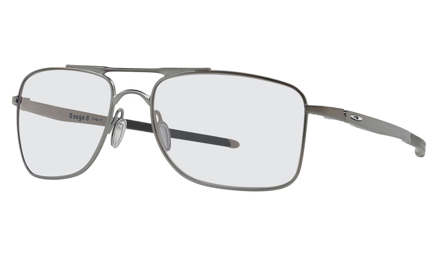 0a1f99e8d Oakley Gauge 8 Prescription Sunglasses - Matte Gunmetal (Chrome Icon ...