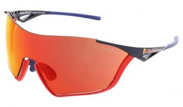 Red Bull Flow Sunglasses - Shiny Red + Blue / Smoke Red Mirror + Transparent